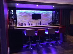 small bar in basement Basement Gym, Basement Remodeling, Basement Ideas, Home Bar Decor, Home Bar Designs, Woman Cave, Home Cinemas, Bars For Home, Home Projects