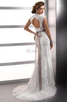 UBK UsereBrautKleider---ELegant Herzförmig Natürlich Taille Spitze Hochzeitskleid Brautkleid