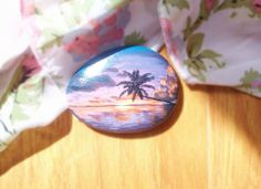 hand painted stone natural stone pebbles the summer by Bloobling, $20.00