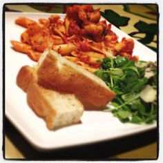Mmmm Pasta Arrabiata! Penne pasta served with chicken in a rich arrabbiata sauce, Parmesan cheese shaving & garnished with rocket salad. Perfect if you like spice! http://www.therainforestcafe.co.uk/menus/mainmenu.asp
