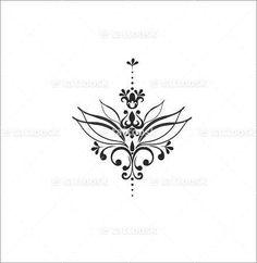Underboob Tattoo Design Drawing   Tatouages de fleur de lotus, Fleurs de lotus and Tatouages de fleurs ...