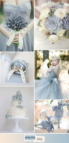 I think this may be a little too drab for me, but its a thought. hot wedding color ideas in dusty blue #WeddingIdeasBlue