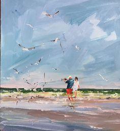 Mykhailo Rychkov Beach, Painting, Art, Art Background, The Beach, Seaside, Painting Art, Kunst, Paintings