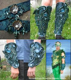 #Merman Sean Brown commissioned these bracers, armbands and greaves.