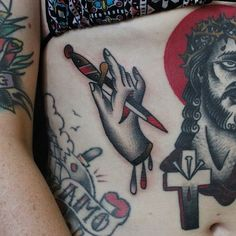 Tattoo on pinterest dagger tattoo traditional tattoo for Tattoos on old skin