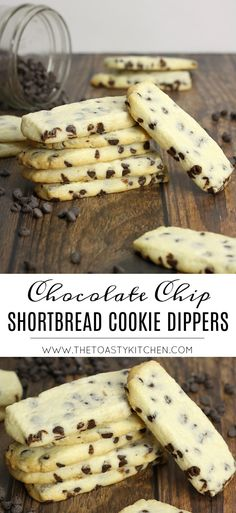 Chocolate Chip Shortbread Cookie Dippers by The Toasty Kitchen