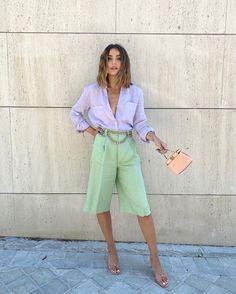 Roupa de estilo urbano tons pastel Cute Casual Outfits, Chic Outfits, Casual Chic, Fashion Outfits, Summer Outfits, Pastel Fashion, Colorful Fashion, Urban Fashion, Look Fashion