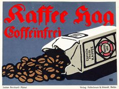 Lucian Bernhard, Kaffee Hag