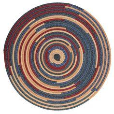 Fabricord® Round Braided Rug, QC06 Denim