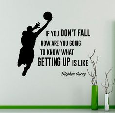 If You Don't Fall Wall Decal Stephen Curry Quote Vinyl Sticker Home Decor Basketball Player Wall Art - Sport Basketball Motivation, Basketball Memes, Basketball Workouts, Basketball Players, Girls Basketball Quotes, Basketball Crafts, Basketball Academy, Basketball Court, Basketball Videos