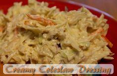 Moms Pantry: Recipe: Creamy Coleslaw Dressing