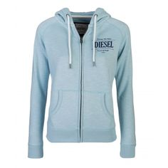 Lucia Sterling Blue Price: € 49.00  Ladies full zip hood  Concealed metal zip with logo zip  Lined hood with contrast colour rope pulls  Slub effect fabric  50% cotton 50% polyester