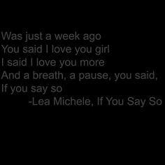 Lea Michele, If you say so.