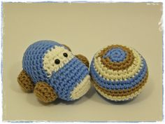 Crochet toy set  baby rattles little car and stripy by ByMarika, $24.00