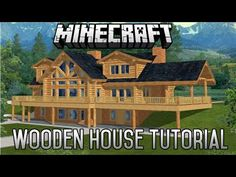 Minecraft Epic Wooden House Tutorial Part 4 (1.8.1) January 2015 - YouTube