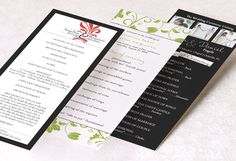 A good site for getting ideas for wedding programs