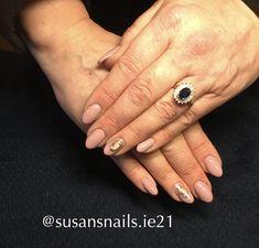 Soft pink gel nails