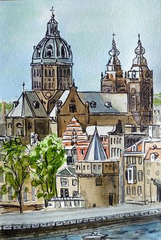 Amsterdam Holland' by Irina Sztukowski - http://irina-sztukowski.artistwebsites.com/featured/amsterdam-holland-irina-sztukowski.html