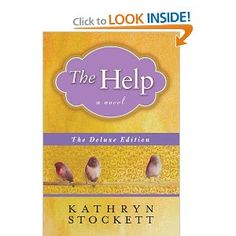The Help by Kathyn Stockett.  Life in the South in the 60s.  Skeeter decides to write a book from the perspective of the black maids.  All the stories of humiliation and pain come out along with the love the maids have for the children they are raising for their employers. Writing the stories puts Skeeter into the world of fear and injustice in the black families live with daily.