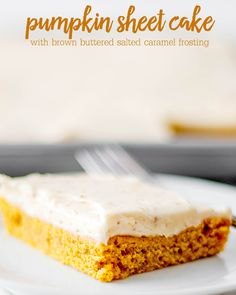Pumpkin Sheet Cake -
