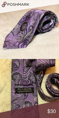 Jos. A Bank Purple Paisley Tie Gorgeous lavender Paisley designed tie. No wear or tear. Great condition! Jos. A Bank Accessories Ties