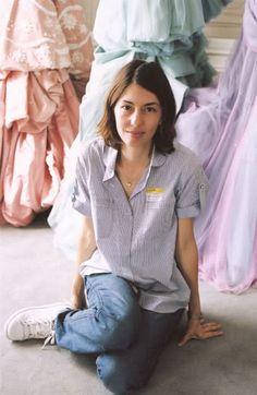 Sofia Coppola on the set of Marie Antoinette