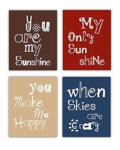 You are my sunshine Art Prints 4-8x10 prints by Little Pergola Art, $55.00