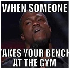 Gym humor...the look.