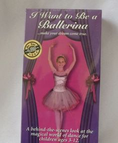I Want to Be a Ballerina VHS Ballet Nutcracker Documentary Award Winning NEW