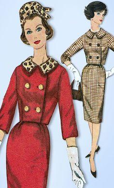 1960s Vintage Simplicity Sewing Pattern 3588 Misses 2 Piece Suit and Hat Sz 36 B #Simplicity #SuitPattern