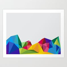 Geometric - Landscapes 2/4 Art Print by Three Of The Possessed - $17.68
