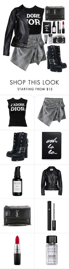 """""""plaid"""" by themarshmallowmadness ❤ liked on Polyvore featuring Christian Dior, Alexander McQueen, Nikon, Kate Spade, Root Science, Acne Studios, Yves Saint Laurent, Lancôme, MAC Cosmetics and Bobbi Brown Cosmetics"""