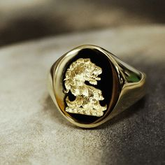 Gentlemans Club, Ring Bear, Family Crest, Crests, Signet Ring, Wax Seals, Hand Engraving, Men's Accessories, Bling Bling