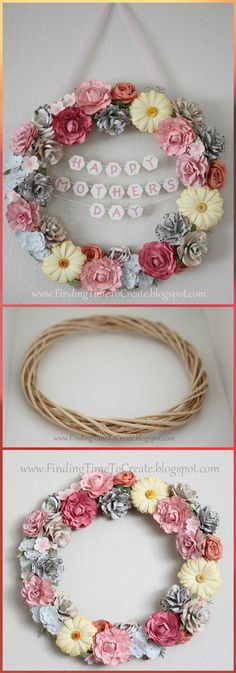 Flower Wreath DIY Mothers Day Gift -300+ DIY Mothers Day Gifts You Can Make For Your Mom - DIY & Crafts