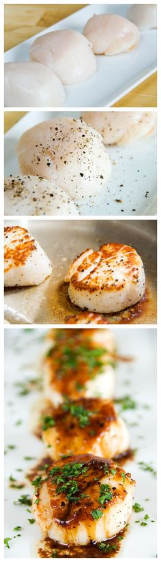 Pan-seared scallops (I've made some and they were INCREDIBLE!)
