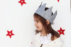 Dress Up Crown Tall Felt Crown Your Choice of by EnchantedPaisley