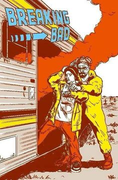 """Breaking Bad fan poster in the styling of """"Back to the Future"""""""