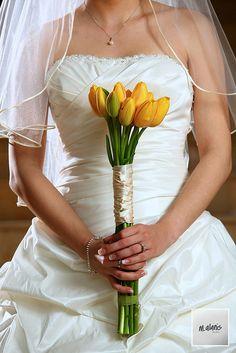 Wedding flower bouquet (tulip)