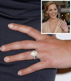 Pear Shaped Enement Ring Celeb Style Katherine Heigl Dazzling