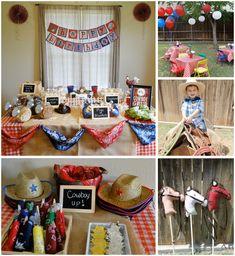 Cowboy Birthday Bash - great pics and tips.  http://anationofmoms.com/2012/07/cowboy-birthday-bash.html