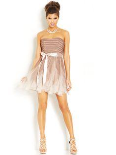 Teeze Me Juniors' Glittered Ombre Dress