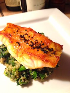 Pan-Seared Grouper with Broccoli Rabe — One If By Food