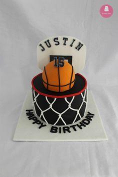 Basketball themed birthday cake