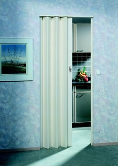 The Eurostar Concertina Folding Door - White - Glass Concertina Doors, Internal Folding Doors, Soft Plastic, Wood Patterns, Bauhaus, Tall Cabinet Storage, Interior, Modern, House