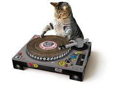Suck UK Kratzmatte DJ Pult für Katzen von Suck UK