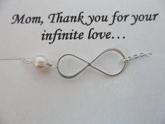 SALE 15% OFF -  Mothers Gifts, Sterling Silver Infinity Bracelet on Etsy, $18.99