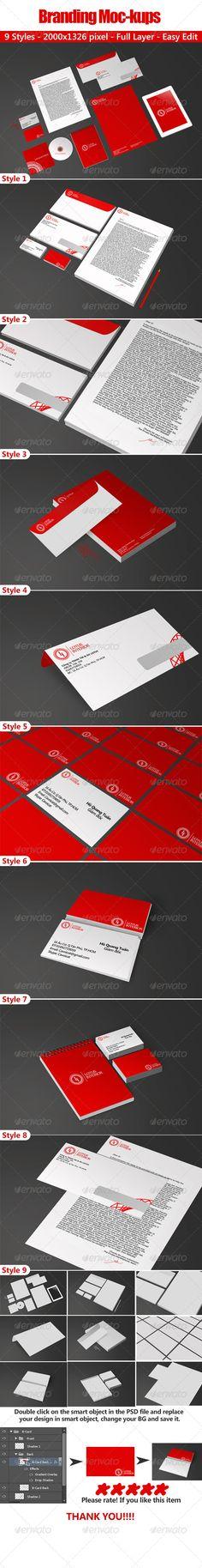 Branding Mockups - Stationery Print