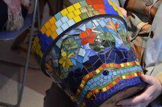 Vibrant Mosaic Pot