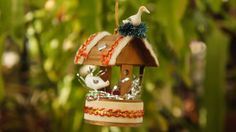 Vintage 60s-70s Wishing Well With Birds by SycamoreVintage on Etsy