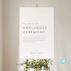 Designing your wedding can be a little overwhelming, but our wedding decor checklist is here to help! Here's everything you need to nail the details. Wedding Reception Planning, Wedding Signs, Wedding Ceremony, Diy Wedding, Wedding Stuff, Wedding Ideas, Unplugged Wedding Sign, Ceremony Signs, Sign Templates